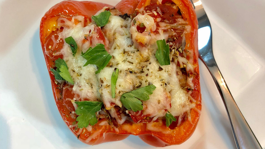 Pizza Stuffed Peppers (Low Sodium)