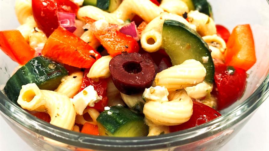 Mediterranean Chickpea Pasta Salad (Gluten-Free)