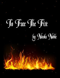 Cover of the book To Face The Fire.  Mostly black cover wit a strip of glowing fire across the bottom.