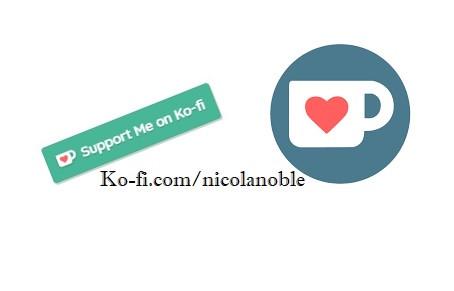 Ko-fi graphic with Ko-fi logo and link to my Ko-fi page.  Picture is a link to my Ko-fi  page