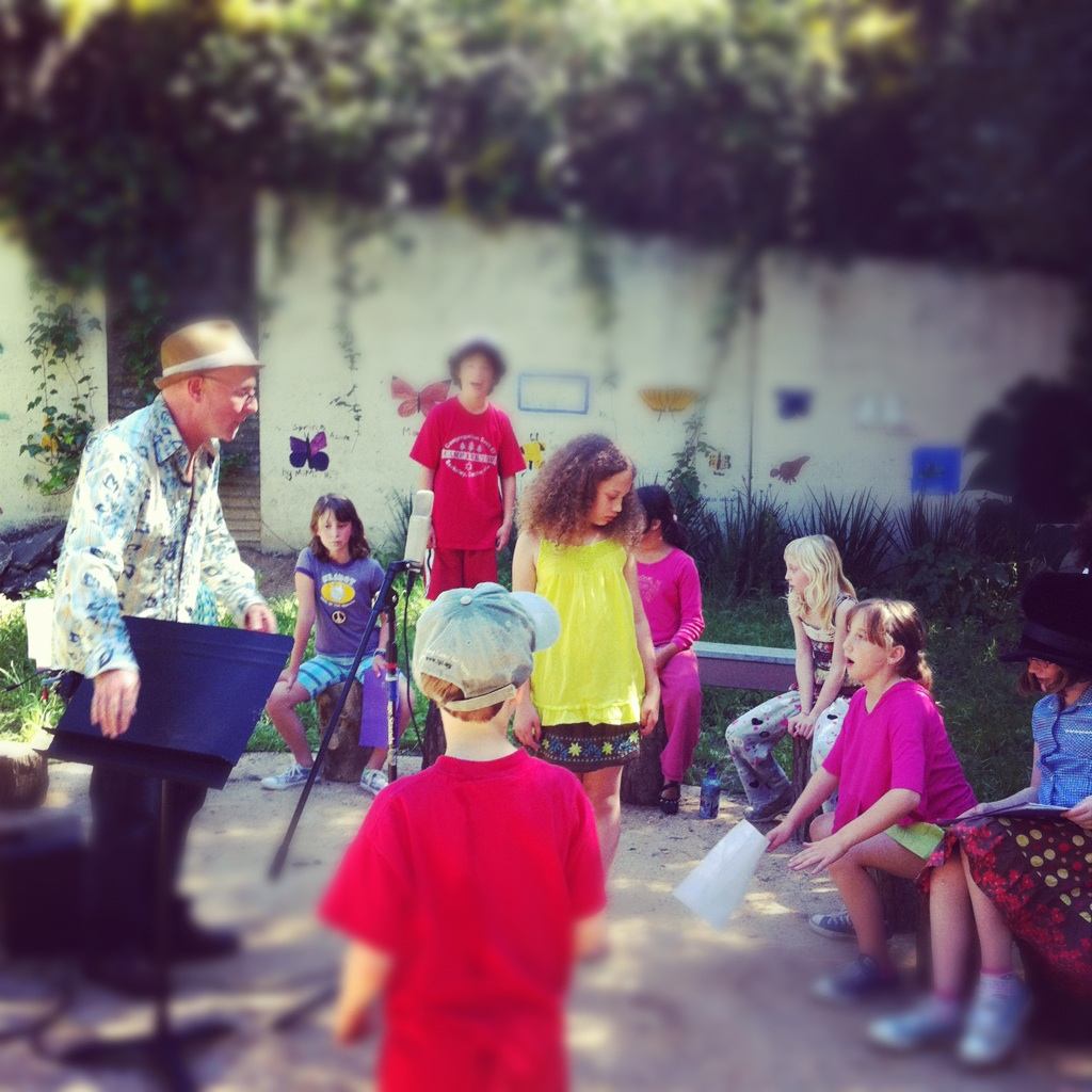 singing in the Garden With Mr. d