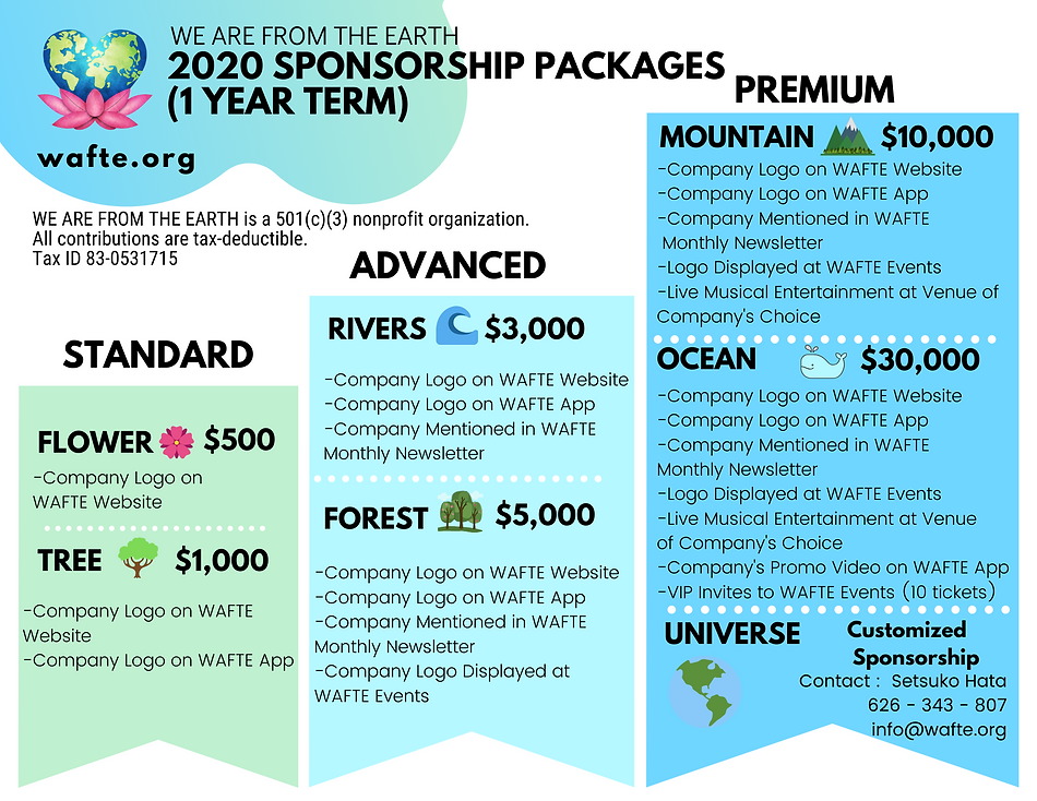 2020 SPONSORSHIP PACKAGES (1 YEAR TERM)