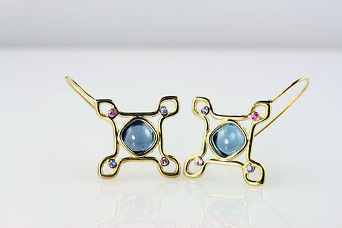 PAIR OF MOROCCO HALO EARRINGS with EARWIRES