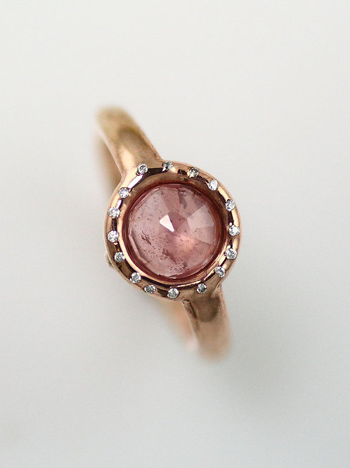8MM HALO RINGS WITH DIAMOND SET BEZEL