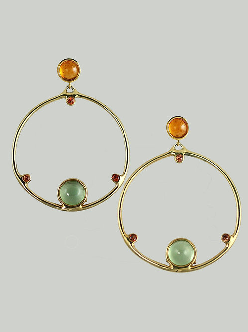 PAIR OF EARTH HALO EARRINGS