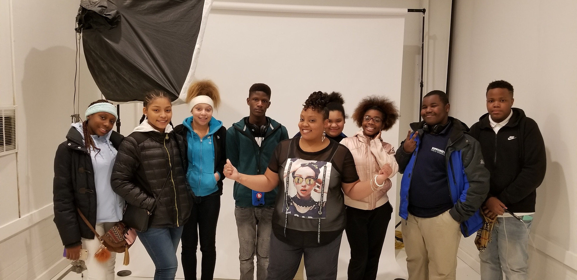 KIPP Indy School 8th Graders with Lady J