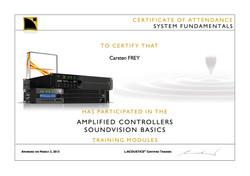 Carsten FREY System Fundamentals Training Certificate