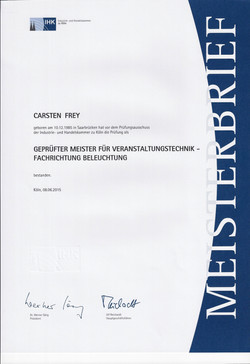 IHK Meisterbrief