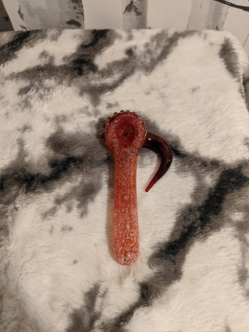 Red And White Frit Handle Pipe