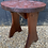 Thumbnail: Sweet Vintage Handmade Stool / Plant Stand With Carved Roses Pattern
