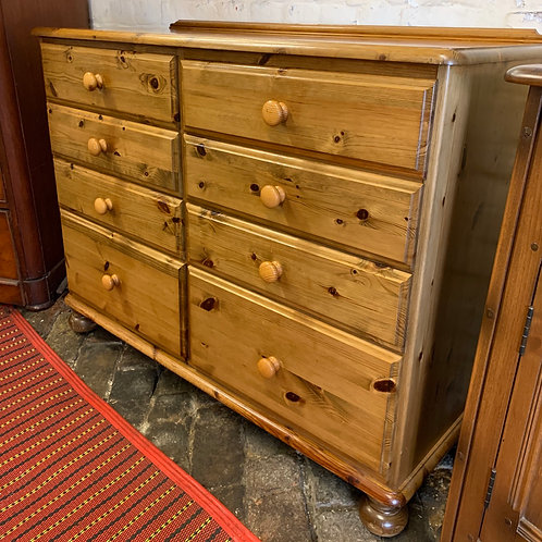Ducal Pine Ledge Back Chest Of Drawers