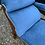 Thumbnail: Elegant 19th Century Mahogany Frame Chaise Longue Day Bed In Blue Upholstery