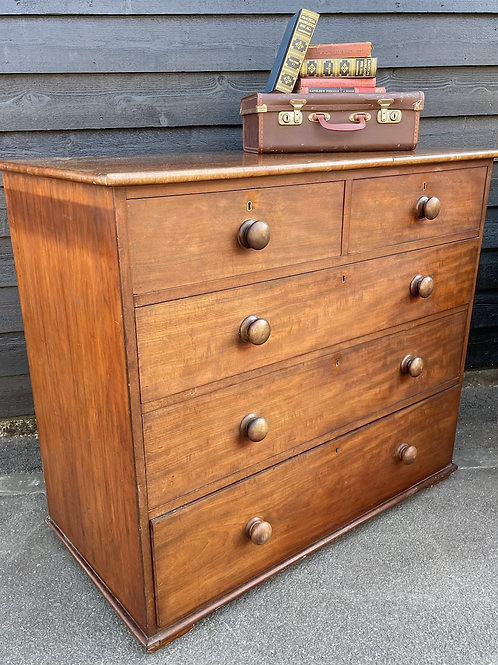 Good Size Victorian Mahogany Chest Of Drawers