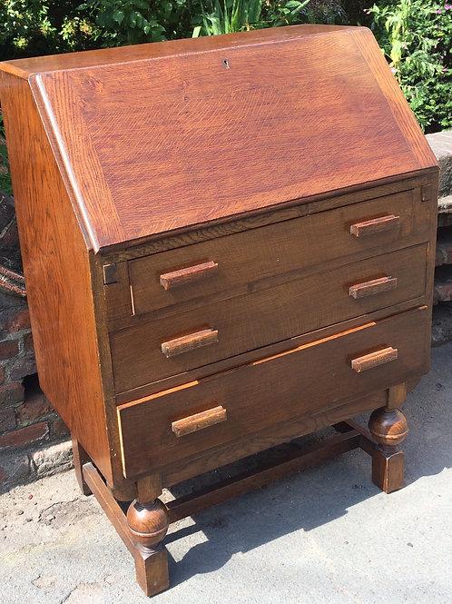 Vintage 1940's Oak Writing Bureau