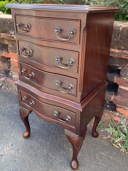 Small Vintage Georgian Style Reproduction Chest Of Drawers
