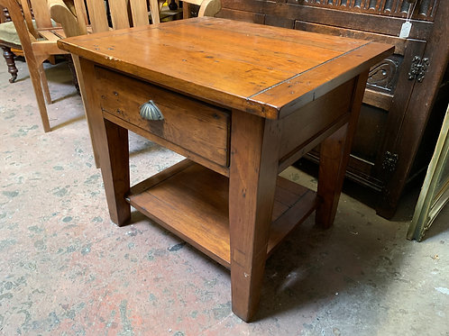 Contemporary Hardwood Lamp Table