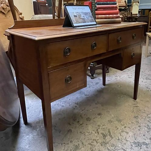 Vintage Mahogany Ledge Back Kneehole Writing Desk