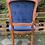 Thumbnail: Elegant French Style Blue Velour Bedroom Armchair