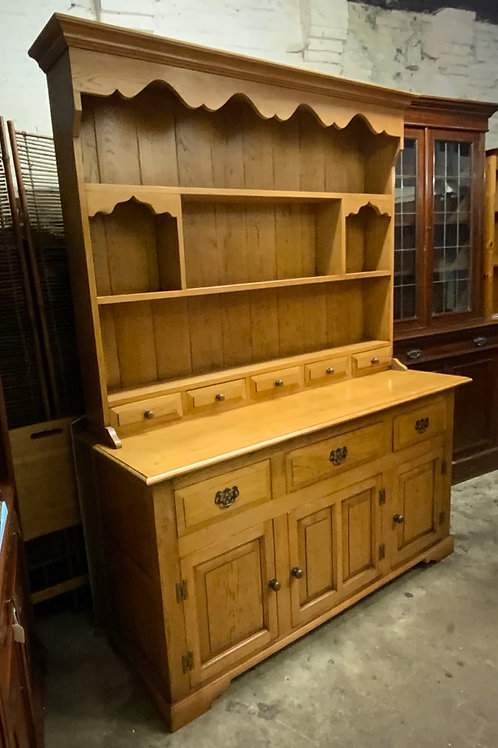 Good Quality Solid Oak Two Height Display Dresser