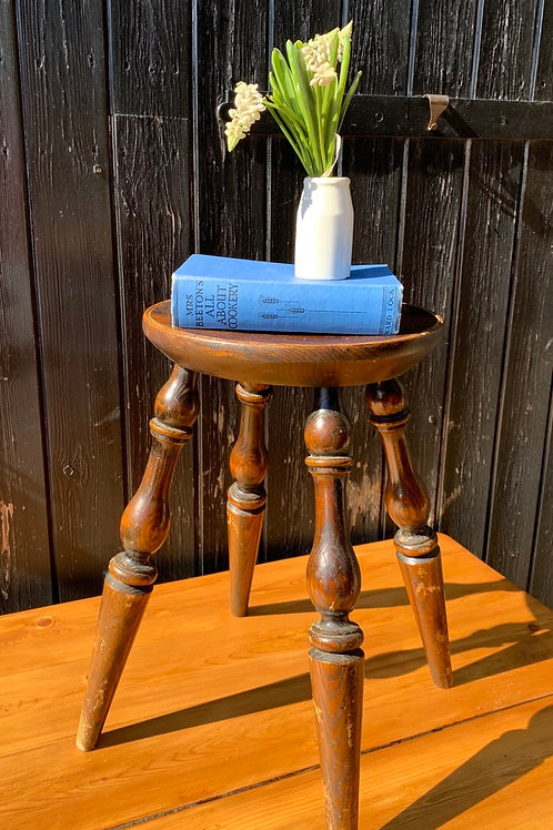 Charming Victorian Elm Stool