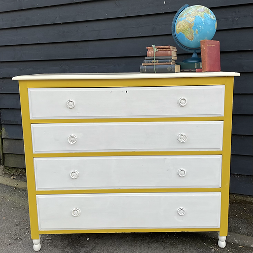 Edwardian Painted Chest Of Drawers