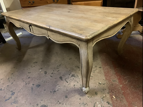 Elegant Rustic French Style Coffee Table With Drawer