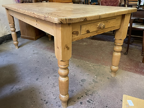 Large Rustic Pine Farmhouse Style Kitchen Dining Table