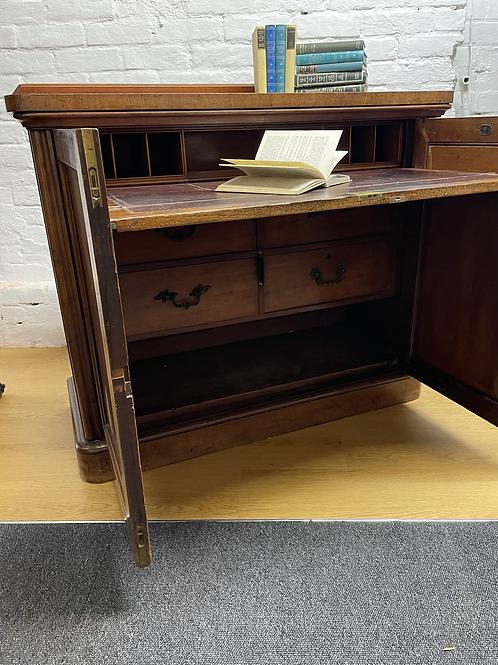 Maple & Co Handsome Victorian Mahogany & Veneer Secretaire Cabinet