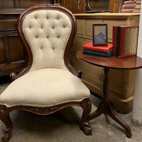 Elegant Vintage Victorian Style  Spoon Back Nursing Chair