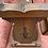 Thumbnail: Old Charm Oak Magazine Rack With Linenfold Panels 2187