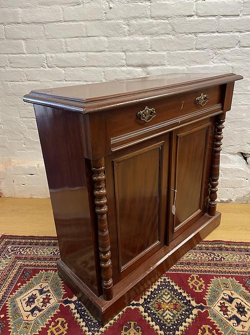 Sweet Little Victorian Mahogany & Veneer Chiffonier Side Cabinet