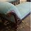 Thumbnail: Elegant Victorian Mahogany Frame Chaise Longue Day Bed In Teal Blue Upholstery