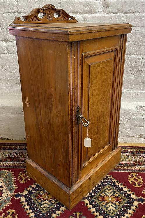 Traditional Edwardian Ledge Back Pot Cupboard / Bedside Cabinet
