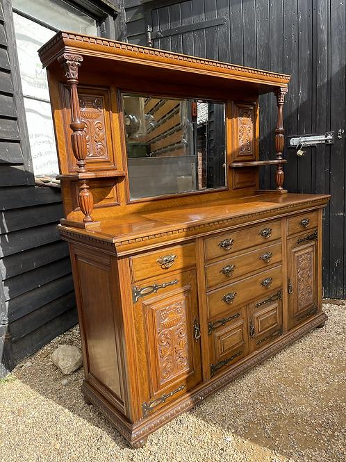 Substantial Edwardian Mirror Back Buffet Sideboard Dresser