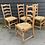 Thumbnail: Set Of 4 Early 20th Century Light Oak Lancashire Ladder Back Dining Chairs