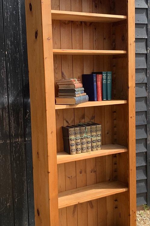 Tall Narrow Pine Bookcase