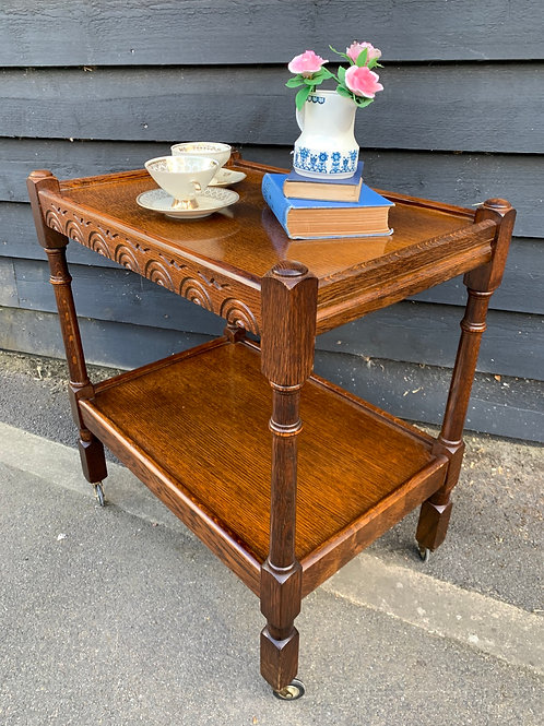 Old Charm Two Tier Tea Trolley