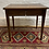 Thumbnail: Charming Arts & Crafts Style Oak Inlaid Hinged Lid Side Table