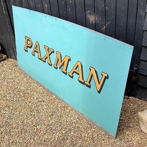 Large Vintage Paxman Engineers Sign