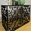 Thumbnail: Great Looking Wrought Iron Console Hall Table With Polished Metal Top