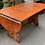 Thumbnail: Good Quality Webber Furniture Solid Oak D End Dropleaf Dining Table