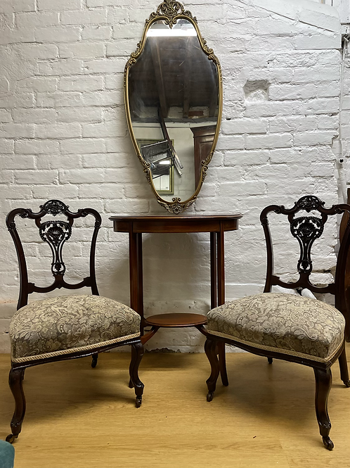 Elegant Pair Of Victorian Nursing Chairs / Occasional Side Chairs