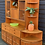 Thumbnail: Parker Knoll Teak Wall Unit Display Dresser With Corner Cabinet