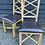 Thumbnail: Pair Of Modern Light Oak Cross Bar Back Dining Chairs