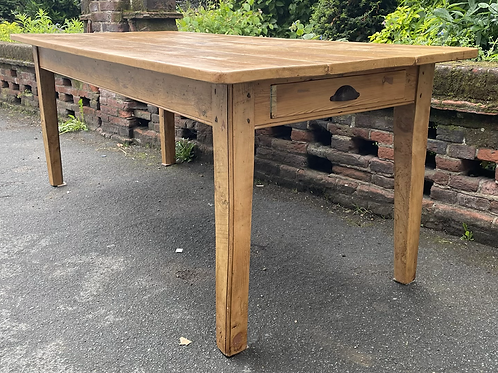 Large Rustic Reclaimed Pine Farmhouse Kitchen Dining Table