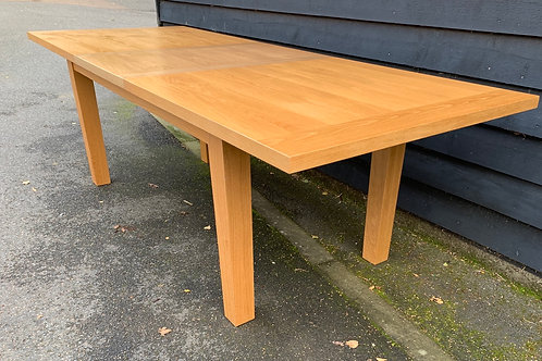 Large Contemporary Light Oak Extending Dining Table