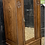 Thumbnail: Lovely 1920's Carved Oak Single Wardrobe / Hall Cupboard With Mirror & Drawer