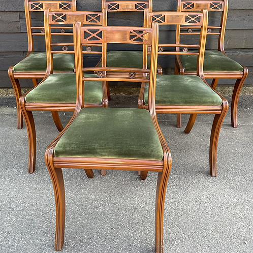 Good Quality Set Of 6 Mines Of Downley Regency Style Reproduction Dining Chairs