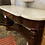 Thumbnail: Elegant Victorian Marble Top Washstand With Gallery Back