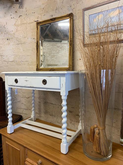 White Painted Vintage Oak Side Table